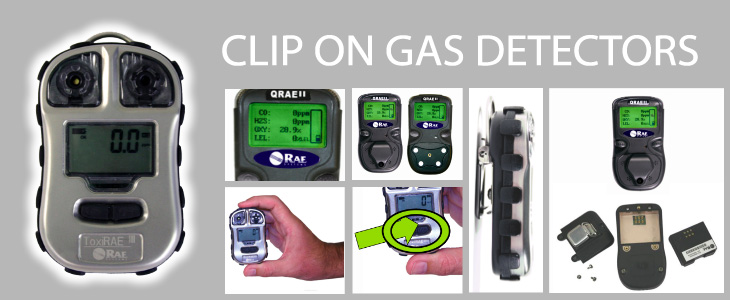 Clip on gas detectors